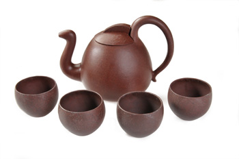 Yixing Teapots Brown Teapot w/4 Cups