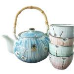 Asian Floral Teapot