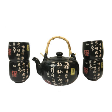 Black Asian Teapot